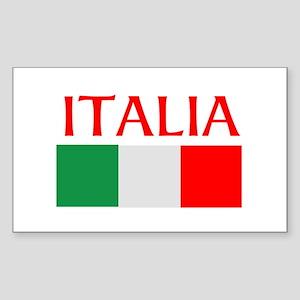 ITALIA FLAG Sticker (Rectangle)
