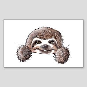 KiniArt Pocket Sloth Sticker (Rectangle)
