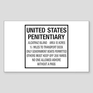 Alcatraz Island, Entrance Sign Sticker (Rectangle)