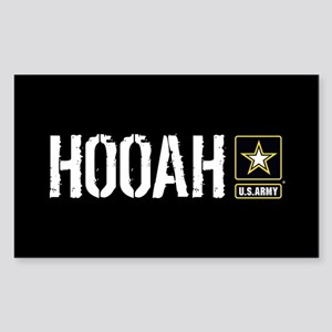 U.S. Army: Hooah (Black) Sticker (Rectangle)