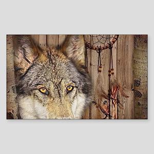 vintage Americana wild wolf Sticker