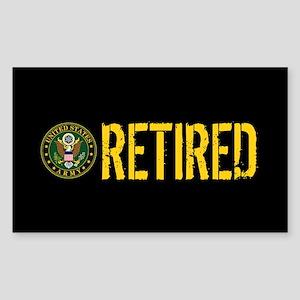 U.S. Army: Retired Sticker (Rectangle)