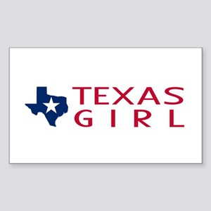 Texas Girl Sticker (Rectangle)