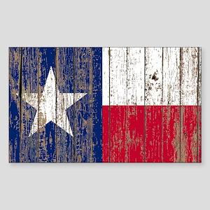 barn wood Texas Flag Sticker