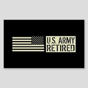 U.S. Army: Retired (Black Flag Sticker (Rectangle)