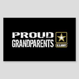 U.S. Army: Proud Grandparents Sticker (Rectangle)