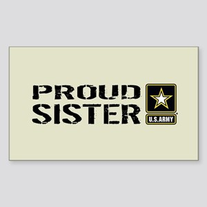 U.S. Army: Proud Sister (Sand) Sticker (Rectangle)