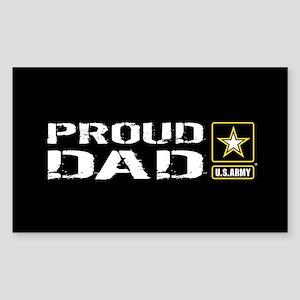U.S. Army: Proud Dad (Black) Sticker (Rectangle)