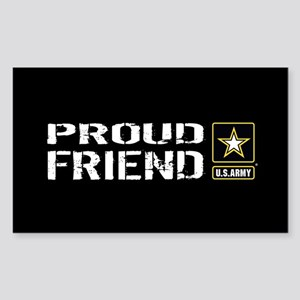 U.S. Army: Proud Friend (Black Sticker (Rectangle)