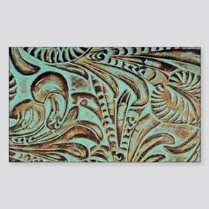 Turquoise country western leather Sticker