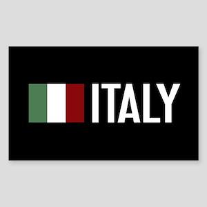 Italy: Italian Flag & Italy Sticker (Rectangle)
