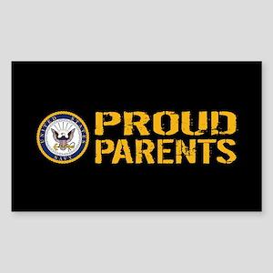 U.S. Navy: Proud Parents (Blac Sticker (Rectangle)