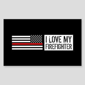Firefighter: I Love My Firefig Sticker (Rectangle)