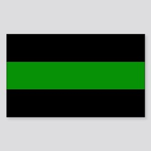 The Thin Green Line Sticker (Rectangle)