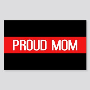 Firefighter: Proud Mom (The Th Sticker (Rectangle)
