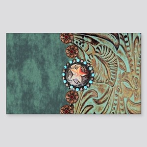 Country Western turquoise leather Sticker