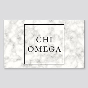 Chi Omega Marble Sticker (Rectangle)