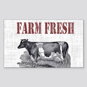 Country Chic Cow Farmhouse Sticker