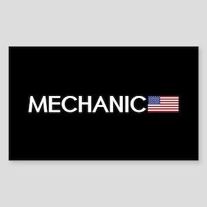 Mechanic: American Flag Sticker (Rectangle)