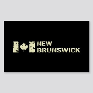 Canadian Flag: New Brunswick Sticker (Rectangle)