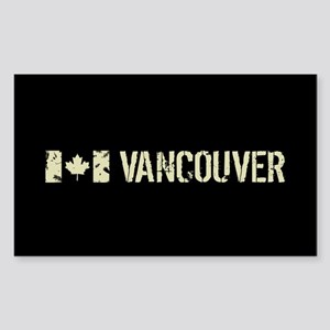 Canadian Flag: Vancouver Sticker (Rectangle)
