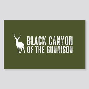 Deer: Black Canyon of the Gunn Sticker (Rectangle)