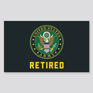 US Army Retired Sticker (Rectangle)
