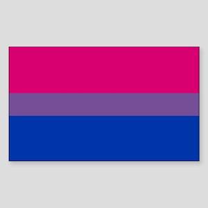 Bisexual Pride Flag Sticker (Rectangle)