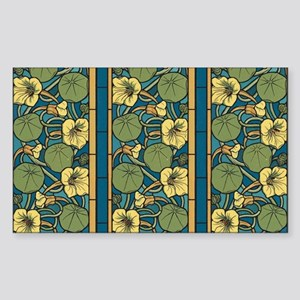 Blue and Yellow Floral Nouveau Sticker