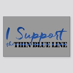 Support the Thin Blue Line Sticker (Rectangle)