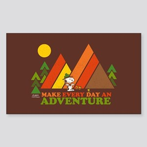 Snoopy-Make Every Day An Adven Sticker (Rectangle)