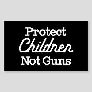 Protect Children Not Guns Sticker (Rectangle)