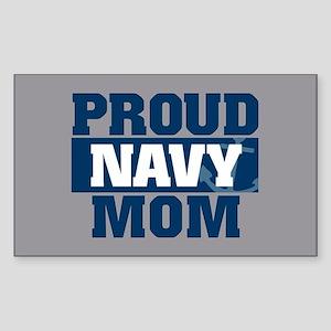 US Navy Proud Navy Mom Sticker (Rectangle)
