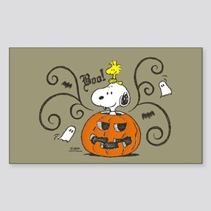 Peanuts Snoopy Sketch Pumpkin Sticker (Rectangle)