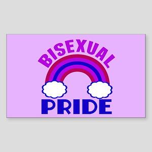 Bisexual Pride Sticker (Rectangle)