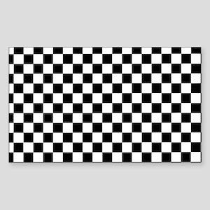 Black White Checkered Sticker