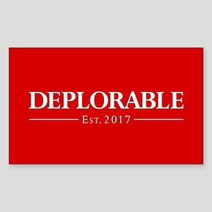 Deplorable Est 2017 Sticker (Rectangle)