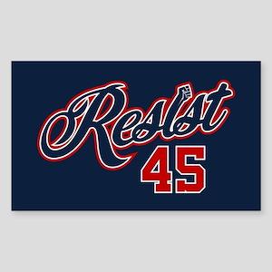 Resist 45 Sticker (Rectangle)