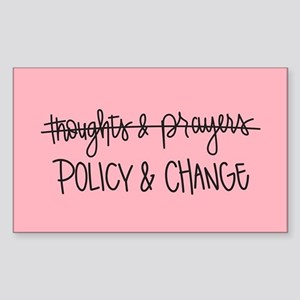 Policy & Change Sticker (Rectangle)