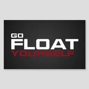 The 100 Go Float Yourself Sticker (Rectangle)