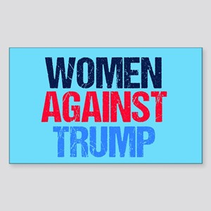 Women Against Trump Sticker (Rectangle)