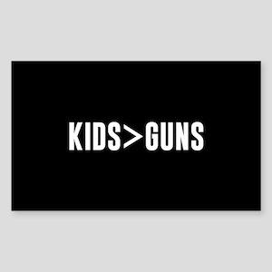 Kids>Guns Sticker (Rectangle)