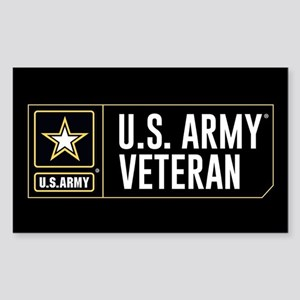 U.S. Army Veteran Logo Sticker (Rectangle)