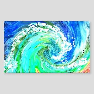 Waves Sticker (Rectangle)