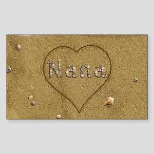 Nana Beach Love Sticker (Rectangle)