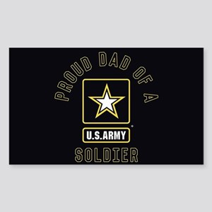 Proud Dad of A U.S. Army Soldi Sticker (Rectangle)