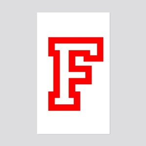F - RED CAPITAL LETTER ATHLETI Sticker (Rectangle)