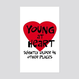 Young at heart Rectangle Sticker