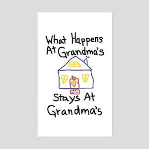 Grandma's House Rectangle Sticker