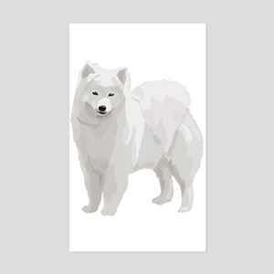 Beautiful Samoyed Rectangle Sticker